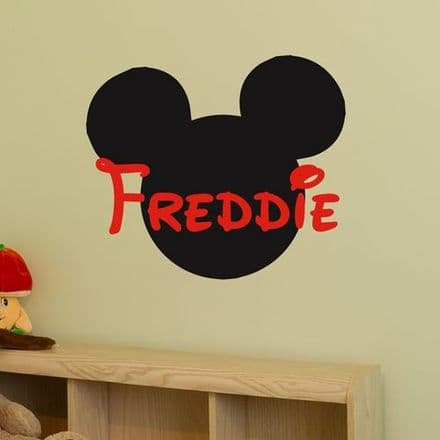 Personalised Mickey Name Sticker