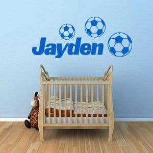 Personalised Name Football Sticker