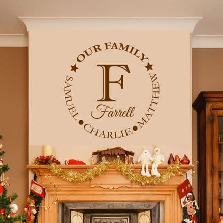 Personalised Our Family Wall Sticker