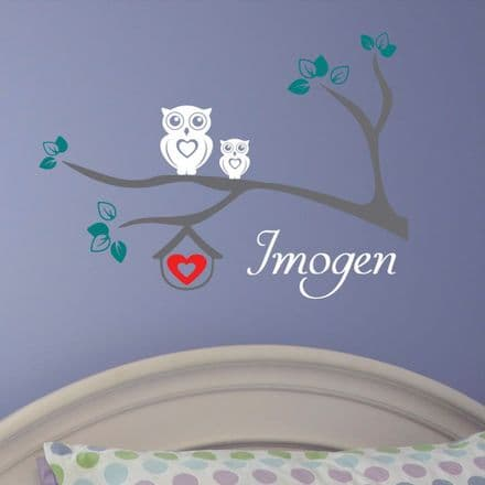 Personalised Owl Wall Sticker