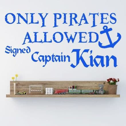 Personalised Pirate Wall Sticker