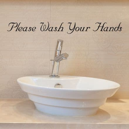 Please Wash Your Hands Notice Wall Sticker