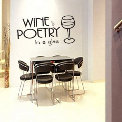 Poetry In A Glass Wall Sticker