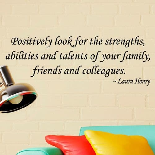 Positively Look For Strengths Wall Sticker
