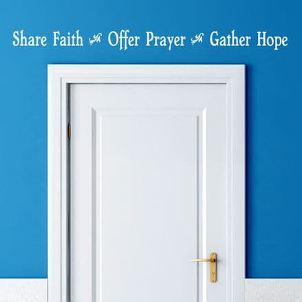 Share Faith Wall Quote