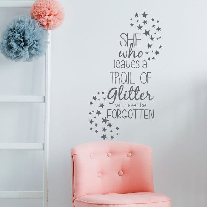 She Who Leaves A Trail Of Glitter Wall Sticker