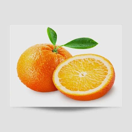 Sliced Orange Kitchen Poster