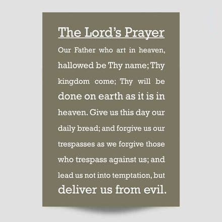 The Lord's Prayer Modern Poster