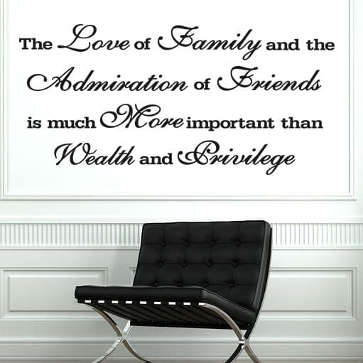 The Love Of Family Wall Sticker