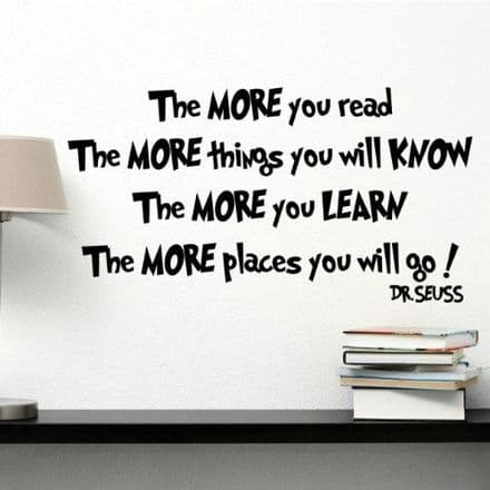 The More You Read Wall Sticker