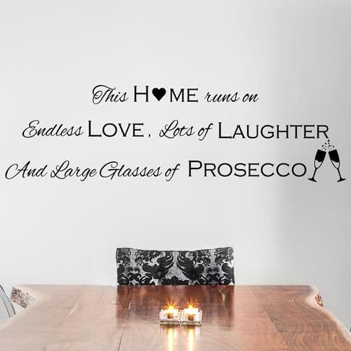 This Home Runs On Endless Love Wall Sticker