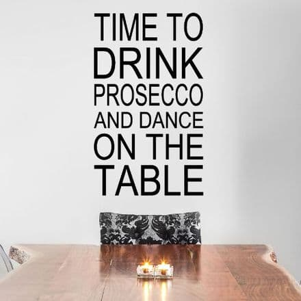 Time To Drink Prosecco Sticker