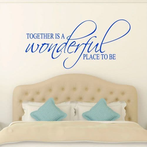 Together Is A Wonderful Place Bedroom Wall Sticker