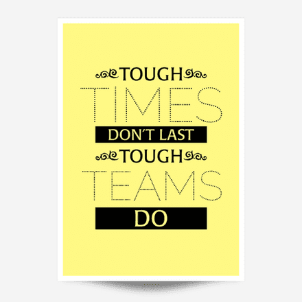 Tough Times Wall Art