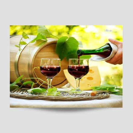 Two Wine Glasses Kitchen Poster