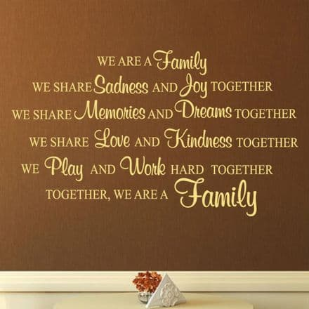 We Are A Family Wall Sticker