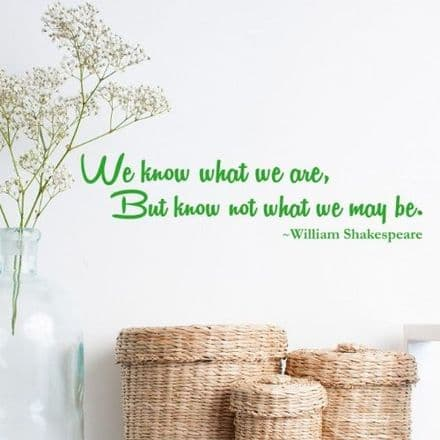 We Know What We Wall Sticker