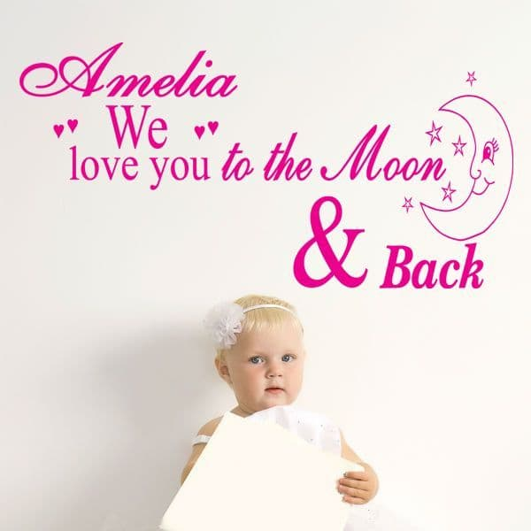We Love You To The Moon And Back Sticker