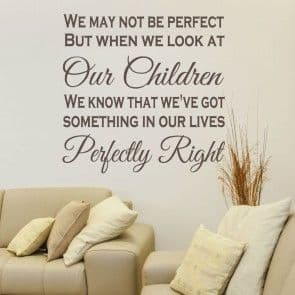 We May Not Be Perfect Family Wall Sticker