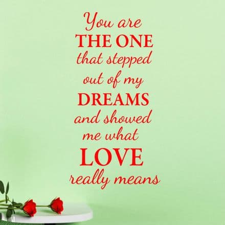 You Are The One Love Wall Sticker