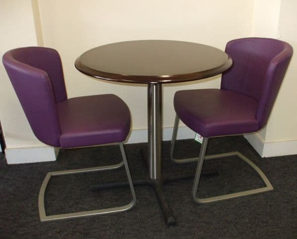 2 Doris S  Chairs Plus Round  Table - IN STOCK