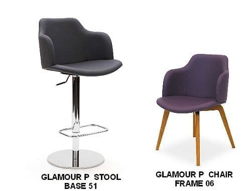 Glamour P Bar Stools & Matching Chairs
