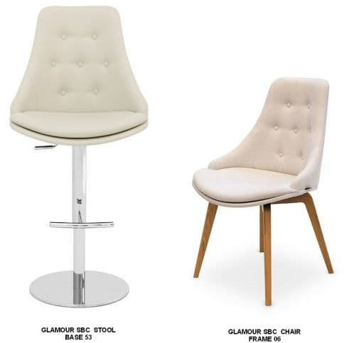 Glamour SBC Bar Stools and <br> Matching Chairs