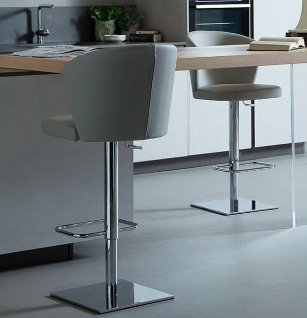 Ines Adjustable Bar Stool
