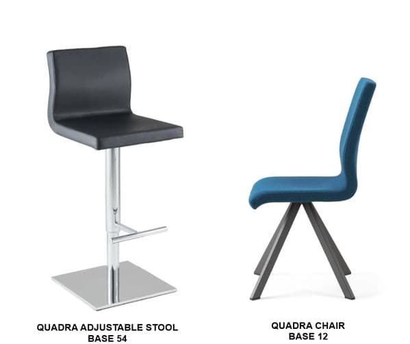 Quadra Adjustable Stools and <br> Matching Chairs