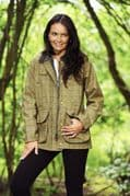 Ladies Derby Tweed Quilted Country Crompton Jacket, Coat