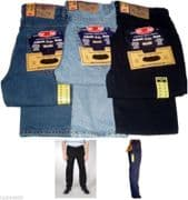 MENS AZTEC TOUGH STRAIGHT REGULAR FIT JEANS W28 TO W50