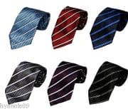 SILKY TIES FORMAL CASUAL WEAR 6 COLOUR