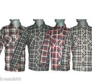 WORK SHIRT MENS 100% COTTON LUMBERJACK  FLANNELL CHECKED SHIRTS  M L XL 2XL