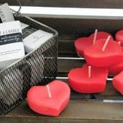 Red Heart Floating Candles