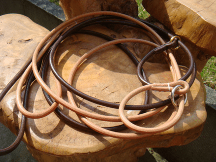 5mm Rolled English Leather Slip Show Lead