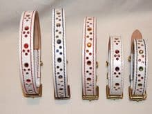 Hand-Made Bridle Leather WHITE Collars