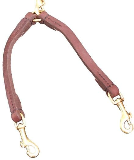 Hand-Made Leather Dog Coupler and Matching Lead (Special Offer)