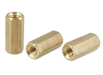 M3 Threaded Rod Connector - M3x10mm Pk5