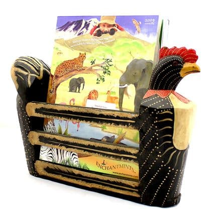 Cockerel Magazine Rack