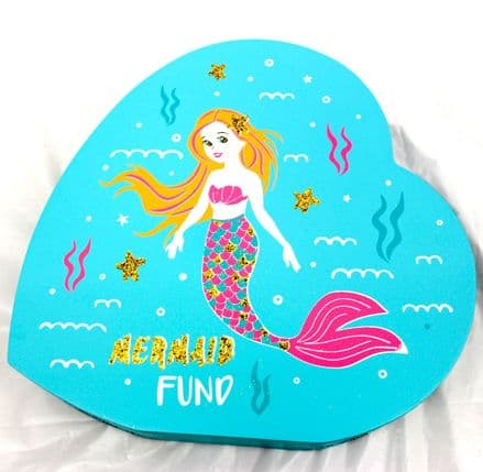 Mermaid Heart Money Box