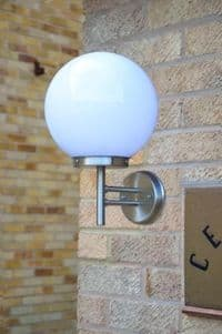 Spherica Stainless Steel Wall Light with 250mm Globe