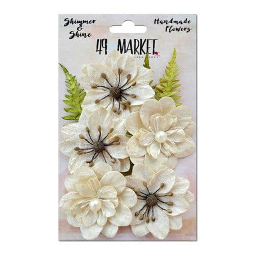 49 and Market Flowers - Shimmer & Shine Ivory Jardin Secret - 85366