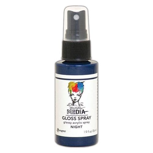 Ranger Dina Wakley Media Gloss Spray 2oz - Night