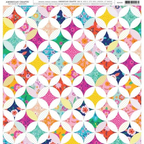 American Crafts 12x12 Patterned Paper - Patchwork Floral