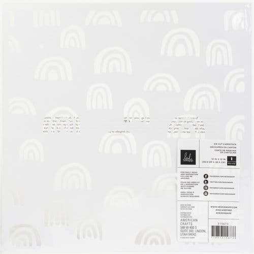 American Crafts Heidi Swapp Specialty Paper 12x12 - Care Free Rainbows