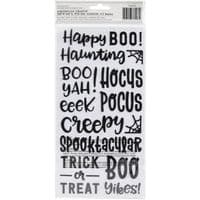 American Crafts Pebbles - Thickers Stickers - Mwahhahaha