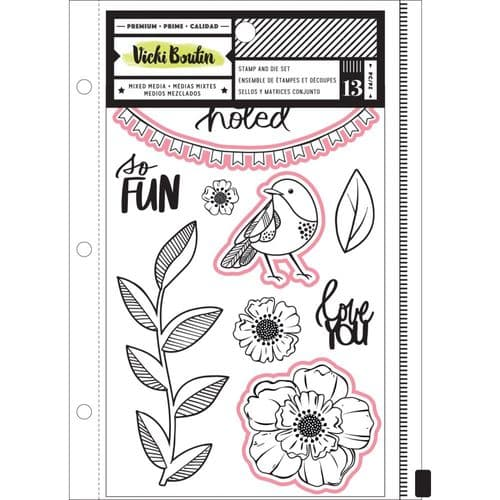 American Crafts - Vicki Boutin Clear Stamps & Dies - Color Kaleidoscope So Fun