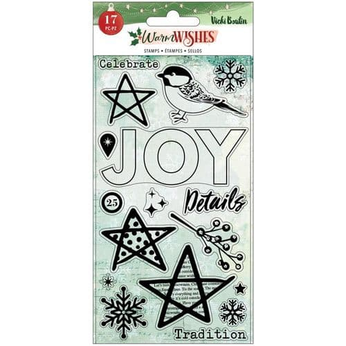 American Crafts - Vicki Boutin Clear Stamps - Warm Wishes