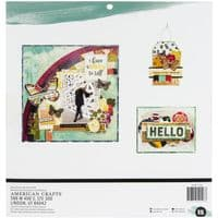 American Crafts - Vicki Boutin Double-Sided Paper Pad 12x12 - Storyteller