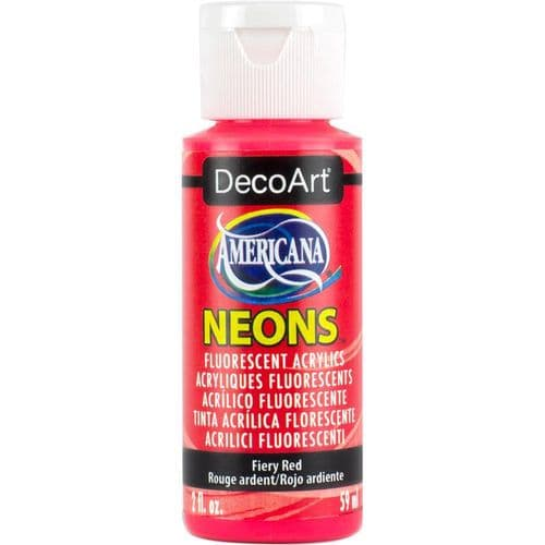 Americana Acrylic Neons - Fiery Red - DHS4